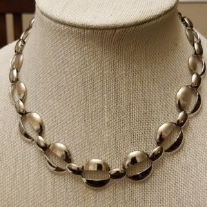 Vtg. Silver Link Necklace